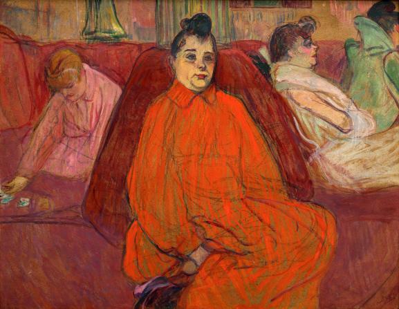 "Henri de Toulouse-Lautrec, \""Le Divan\"", vers 1893, São Paulo, museu de arte de Sao Paulo"