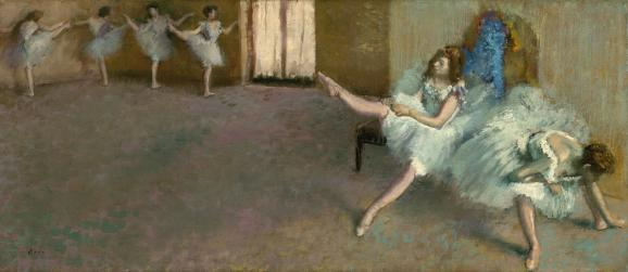 "Edgar Degas, \""Le foyer de la danse\"", 1890 -1892, Washington, National Gallery of Art"