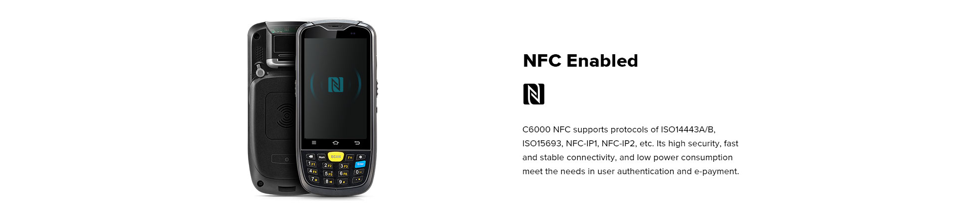 C6000 Rugged Handheld Computer Android - RFID/NFC reader