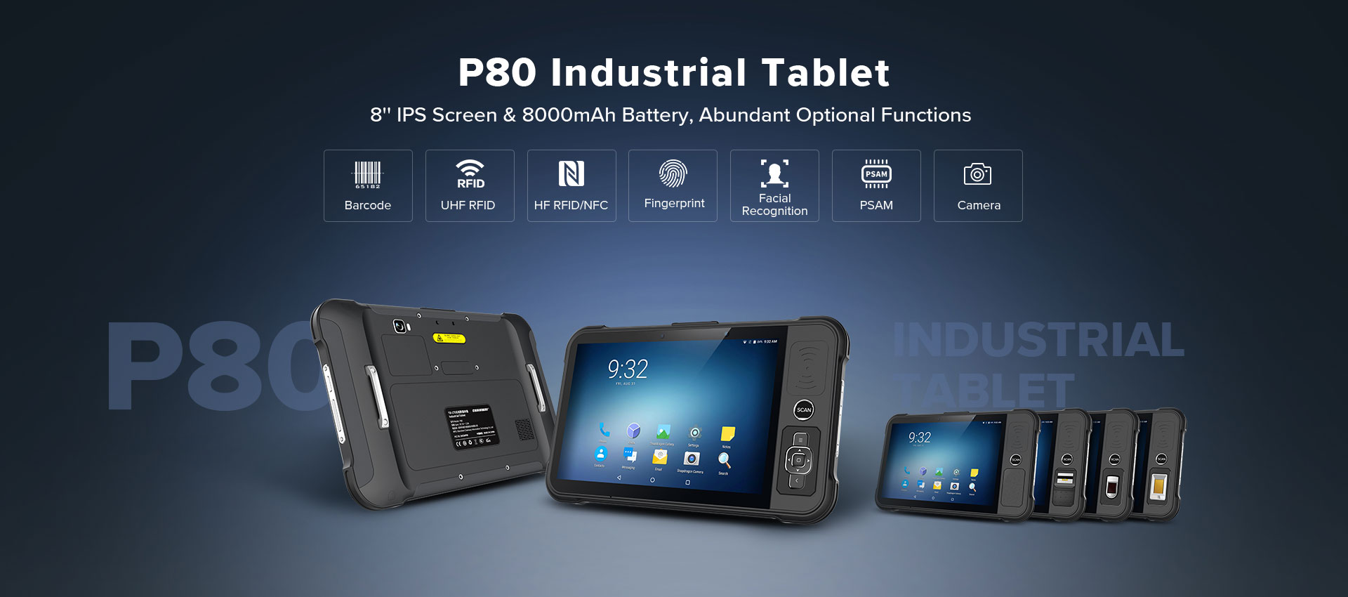 P80 - Android Rugged Tablet by RFID-Global - Industrial
