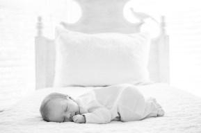 Newborn baby sleeps peacefully
