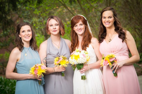 Lovely bridesmaids and stunning bride