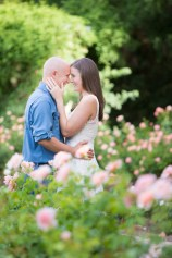 A couple in the roses of Bellingrath Gardens