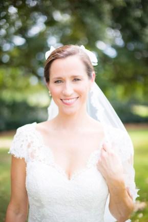 Portrait of a flawless bride