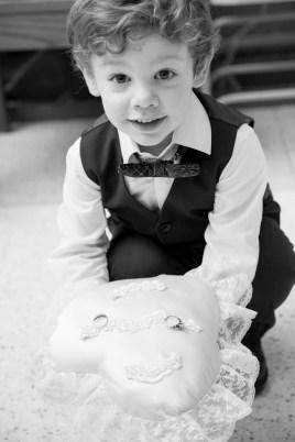 The world's cutest ring bearer.