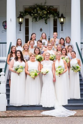 A beautiful group of bridesmaids at Stewartfield