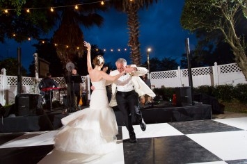 This bride and her dad know how to shake a tail feather