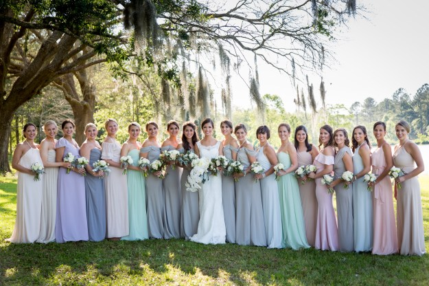 Bridesmaids at Blackwater Farms in Loxley, Alabama