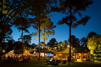 The beautiful nightscape of Blackwater Farms in Loxley, Alabama