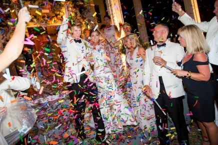 Colorful confetti is the perfect end to a celebration