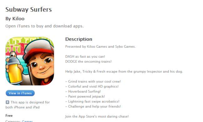 App Store Optimization: How the Top Apps Do It - Subway Surfers