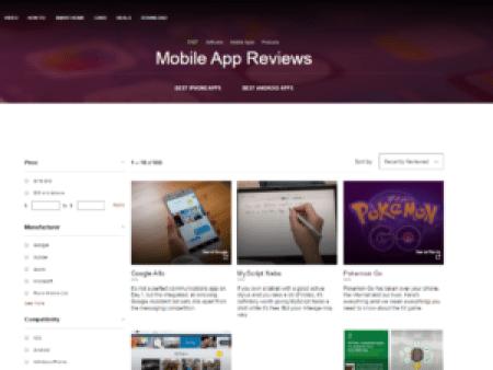 App Review Sites CNET Screengrab