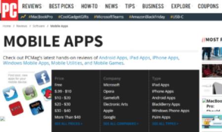 App Review Sites PC Mag Screengrab