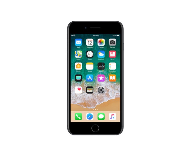 Apple iPhone 7 Plus, Black, Front