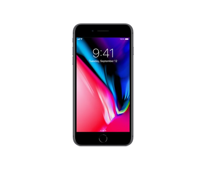 Apple iPhone 8 Plus, Black, Front