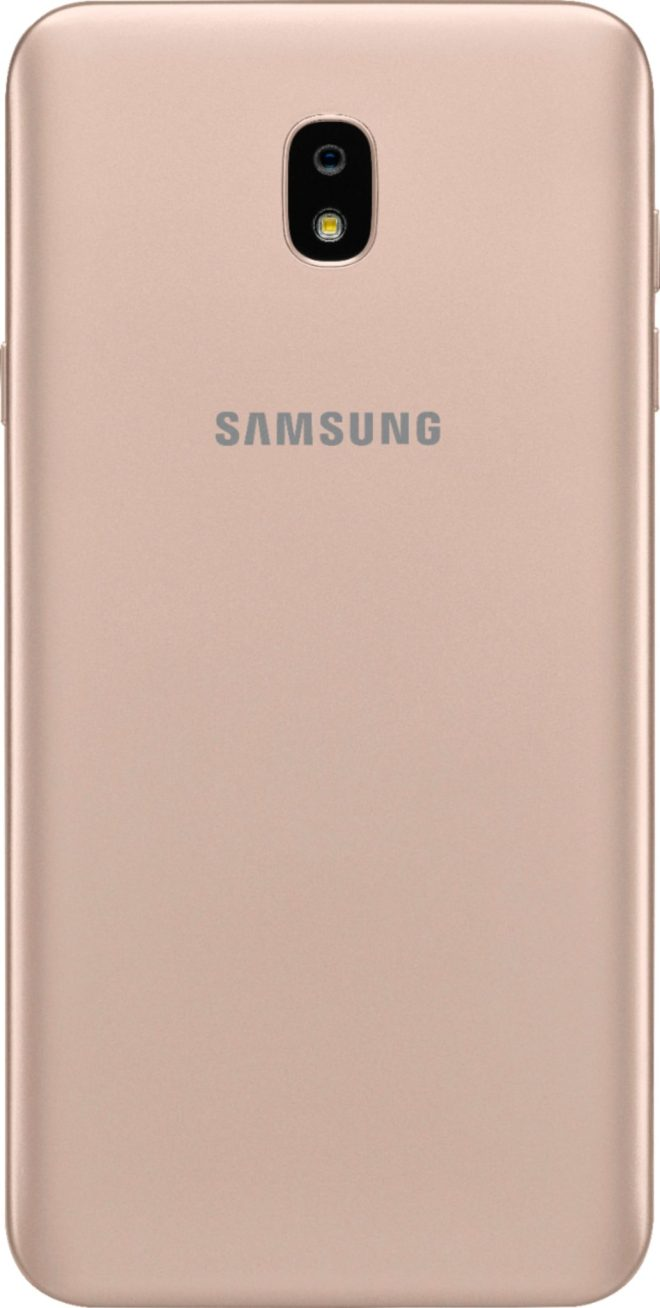 Virgin Mobile Phones, Samsung J7 Refine, Gold, Back