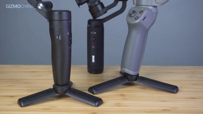 Smartphone gimbal comparison, tripod