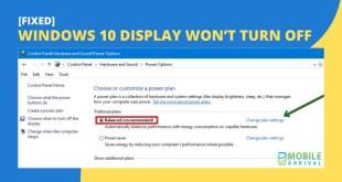 Windows 10 Display Won't Turn Off