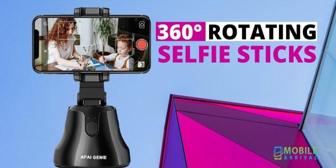 360° Rotating Smart Selfie Sticks