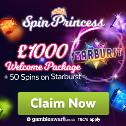 spin princess welcome bonus