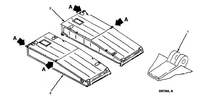 Figure 3-10. interior Bay Support Link and Hinge Pins