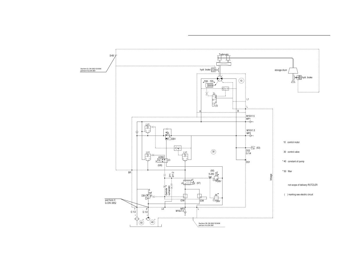 Winch Control Block Hydraulic Schematic