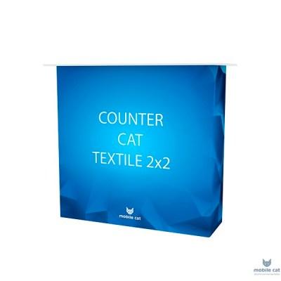 Мобильная промостойка Counter Cat Textile 2х2 Mobile Cat