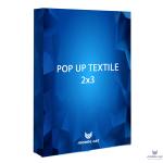 Pop-up Cat Textile стенд 2×3 секции прямой