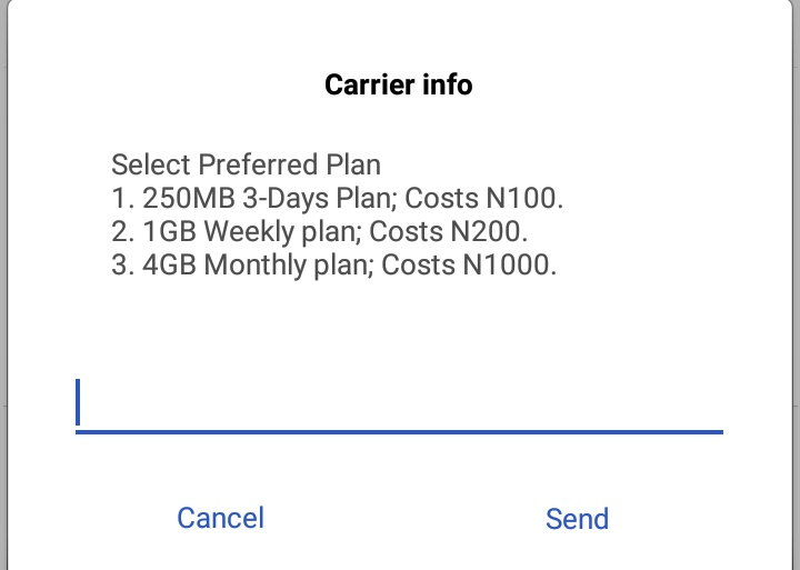 MTN 1000 for 4GB