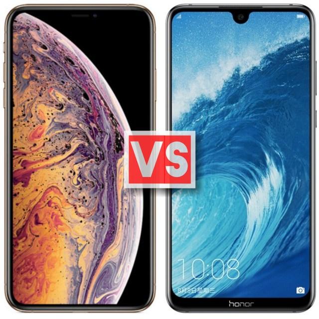 Apple iPhone XS Max Vs Honor 8X Max