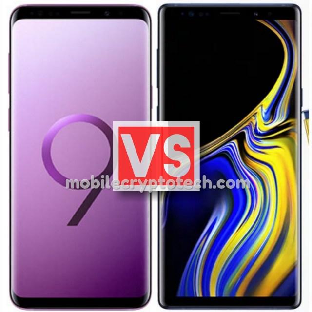 Samsung Galaxy S9 Plus Vs Note 9