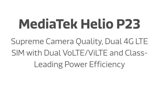 MediaTek Helio P23 MT6763T