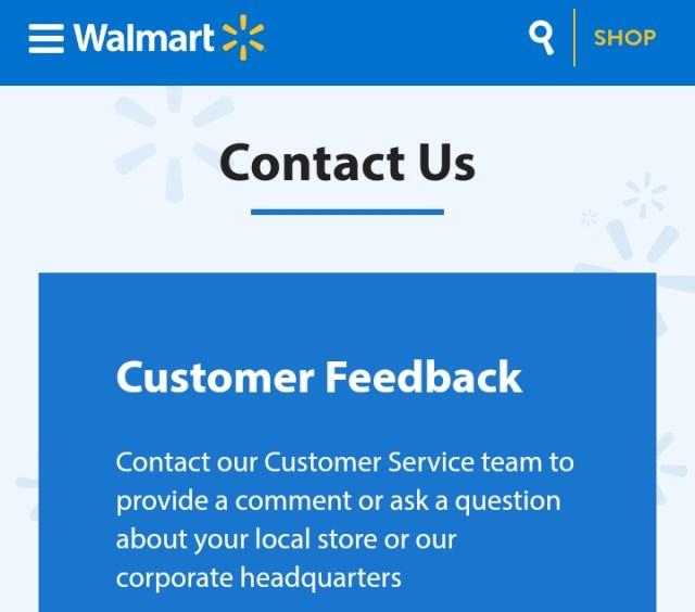 Walmart Customer Care Number