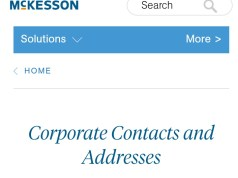 McKesson Customer Service Number