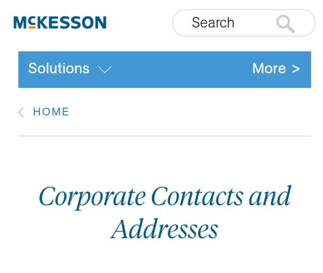 McKesson Customer Service Number