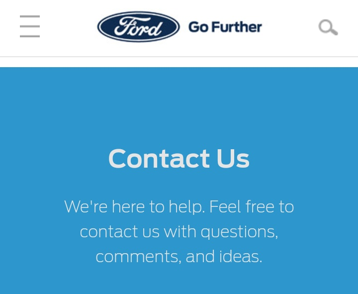 Ford Motor Company Customer Service Number Email Contact