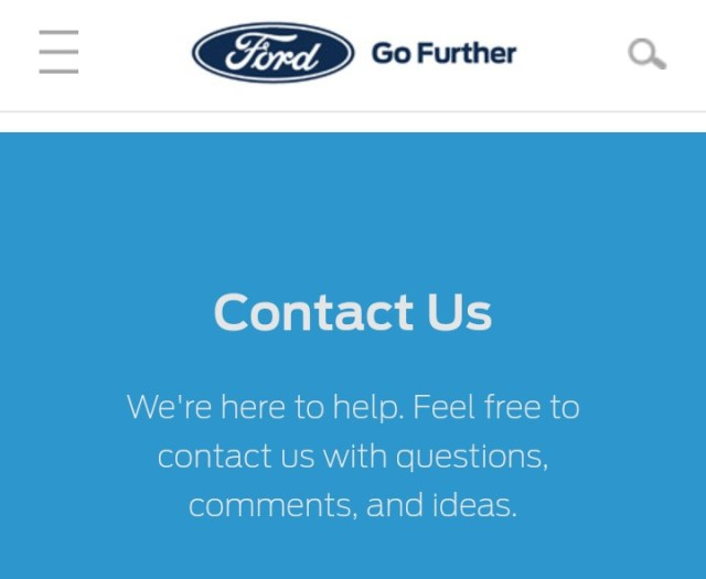 Ford Motor Company Customer Service Number