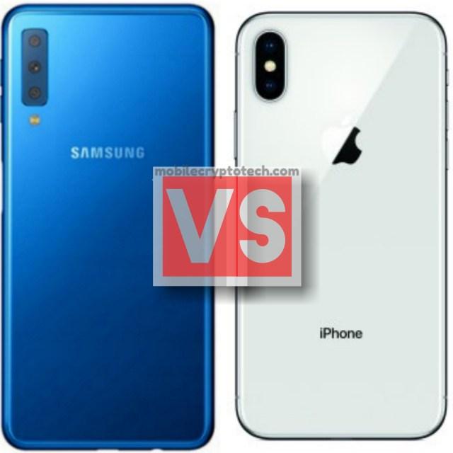 Samsung Galaxy A7 2018 Vs iPhone X