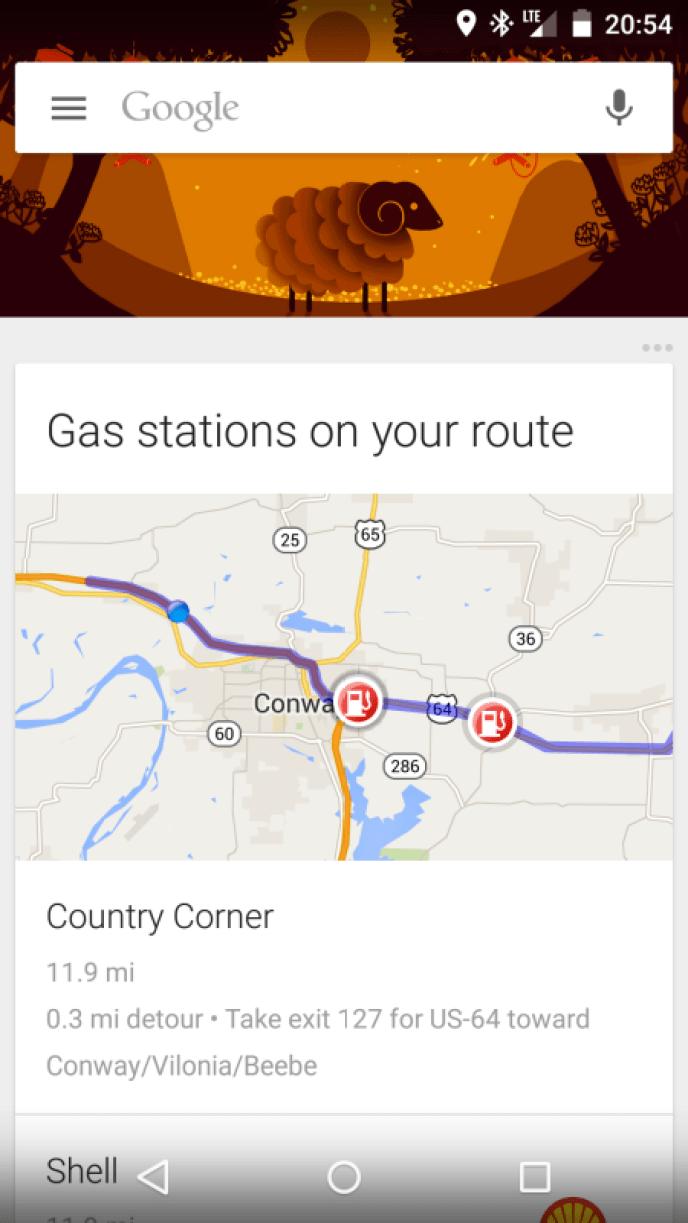 google now tankstellen strecke maps