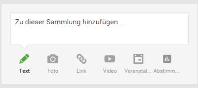 google plus sammlungen post
