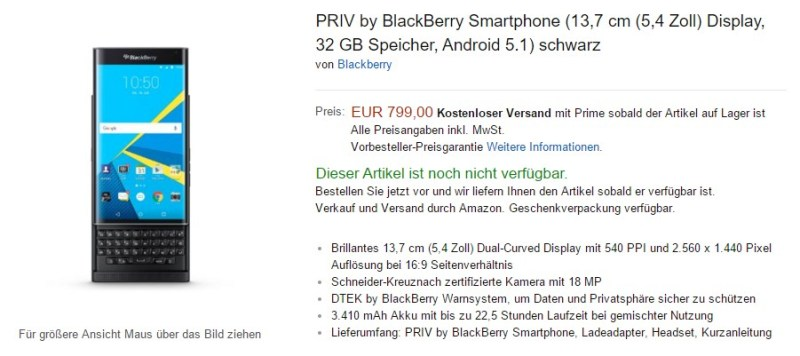 Blackberry priv amazon