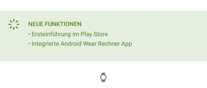 Rechner Android Wear Play Store