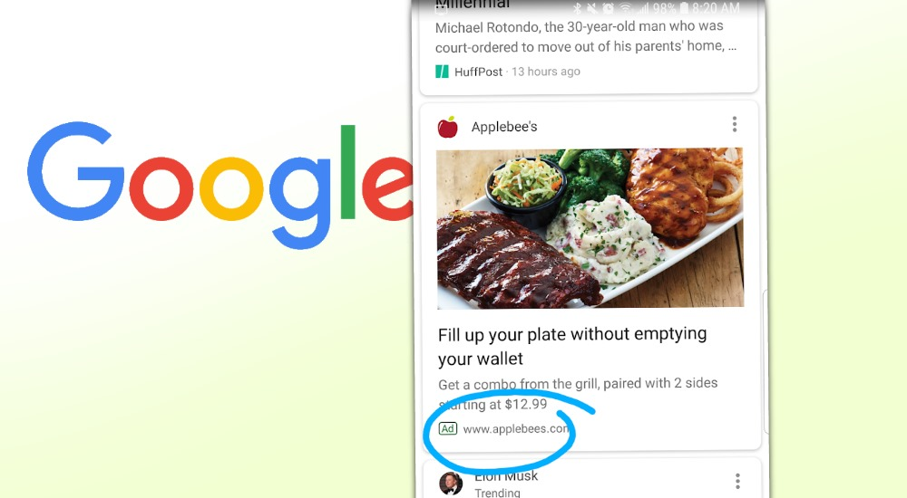 Google testet wohl Werbung im Feed
