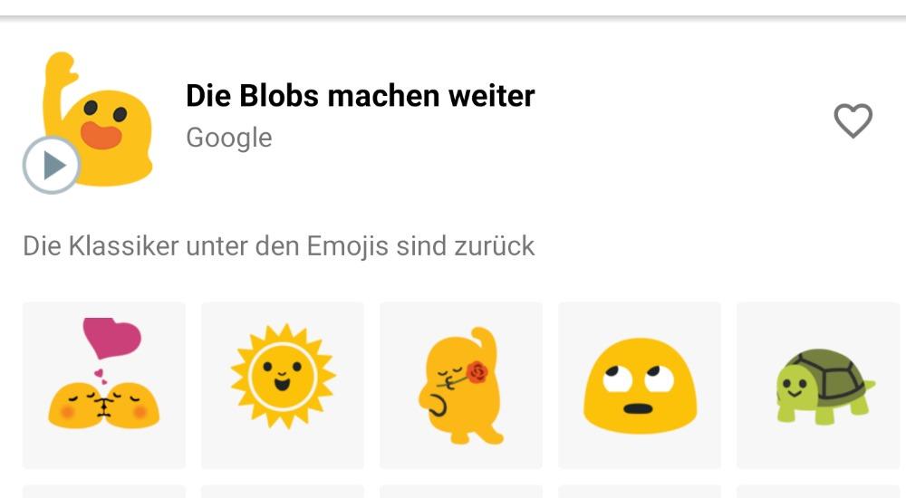 Die Blobs machen weiter - neue Sticker für das Gboard bringt weitere Blobs