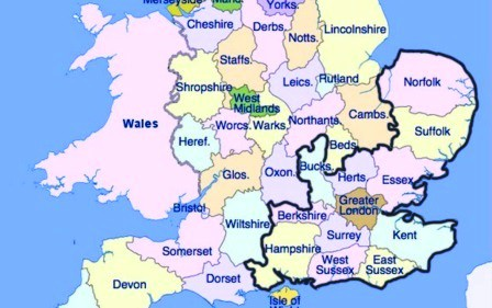 My catchment area - Fixed, £400 fee for anywhere on this map.