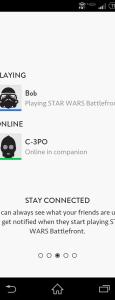 Online friends list