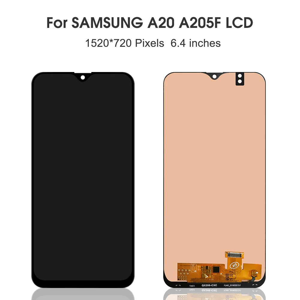 For Samsung Galaxy A20 A205 SM-A205F LCD Display Touch Screen Replacement for Samsung A20 A205 A205F display screen