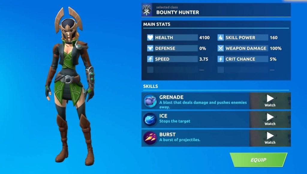Bounty Hunter Class Fog Battle Royale