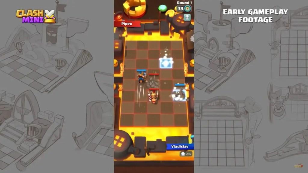 Clash mini gameplay