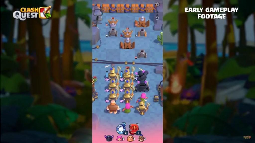 Clash quest gameplay